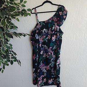 NWT Joe Fresh plus floral one shoulder dress